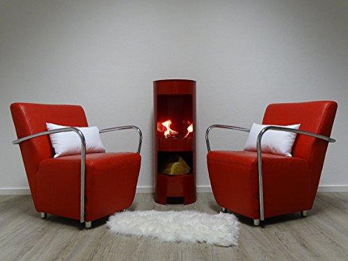 Etanol-y-Gel-Chimenea-de-gel-chimenea-Modelo-High-Tower-Rojo-100-cm-con-madera-compartimento-Incluye-3-latas-de-combustible