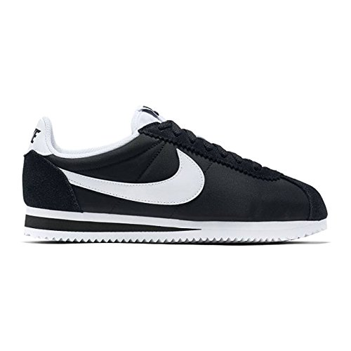 Nike Wmns Classic Cortez Nylon, Chaussures de Running Entrainement Mixte Adulte Blanco (Blanco (black/white))