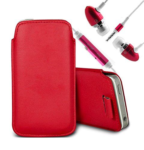 Vert/Green - Nokia Lumia 620 Housse deuxième peau et étui de protection en cuir PU de qualité supérieure à cordon et écouteurs intra-auriculaires de 3,5 mm assortis par Gadget Giant® Rouge/Red & Ear Phone