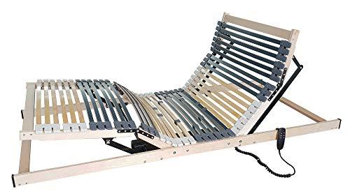 *Benninger Select Motor-Rahmen, 7-Zonen, 42 Leisten, 5-fache Härtegradregulierung, belastbar und stabil (90 x 200 cm)*