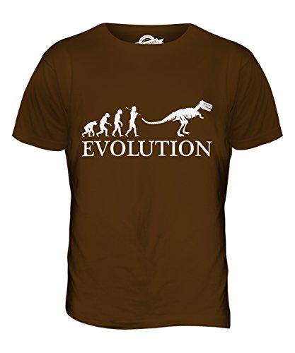 CandyMix Tyrannosaurus Rex T-Rex Evolution Des Menschen Herren T Shirt Braun