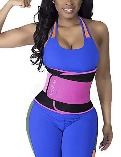 011ebcc5a YIANNA Waist Trimmer Belt Workout Training Trainer Wrap Body Shaper for  Women Weight Loss Pink Size