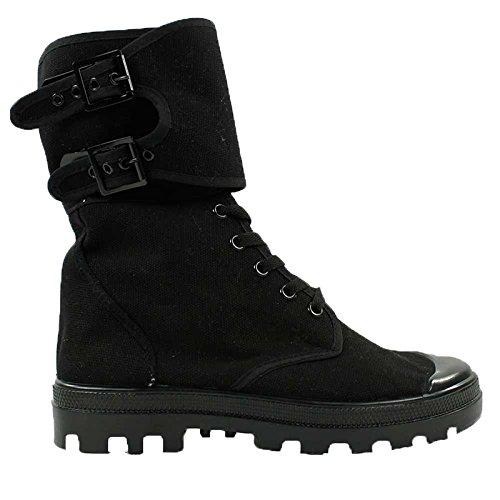 Mil-Tec franz. Commando Stiefel m.Schnalle schwarz Gr.38