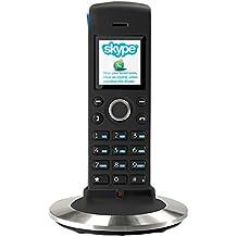 RTX Dualphone 4088 - Teléfono VOIP (inalámbrico), negro y plateado (importado)