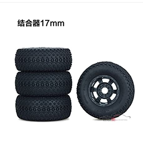 Meijunter Rubber Grip Toughness Tires Tyre Wheel Rim 17mm Hex Mars Pneu Roue Bord for 1/8 1/10 Short Course Monster Truck Buggy Off Road