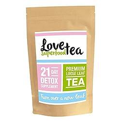 LOVESUPERFOODTEA TAGE DETOX KUR | HOCHWERTIGER TEE (21 Tage: Teeblätter)