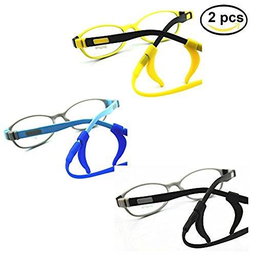 EQLEF 2 Pcs Antislip Brillen Cord Outdoor Sports Eyegalss Silikonband für Kinder
