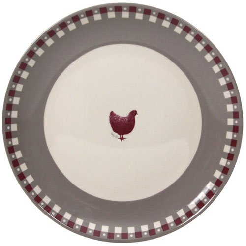 NOVASTYL Lot de 6 Assiettes Plates 27 Gallina