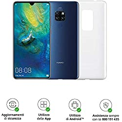 """Huawei Mate 20 Pro (Blu) più Cover Originale, Telefono con 128 GB, Display Oled 6.39"""" QHD+, Processore Kirin 980 Octa Core dinamico con Intelligenza Artificiale [Versione Italiana]"""