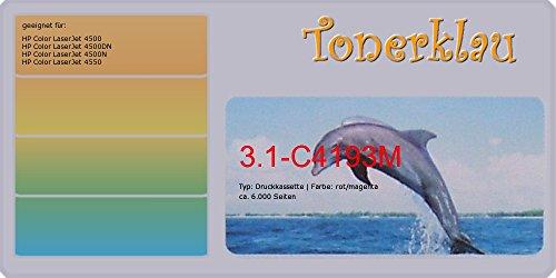 Hp C4193a Toner Kompatibel (Toner/Druckkassette kompatibel zu HP C4193A, Farbe: magenta, kompatible Druckkassette 3.1-C4193M, geeignet für: Color LaserJet 4500 Color LaserJet 4500DN Color LaserJet 4500N Color LaserJet 45)