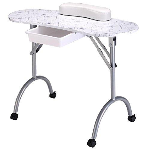BeautyNail Tavolo Unghia Professionale Manicure Tavolo Pieghevole Portatile Attrezzatura Utensili per Unghia Salone con Borsa Unghia Arte Bellezza Mobilia