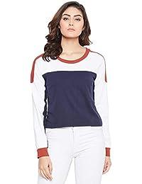 The Dry State Women Full Sleeve Colourblocked T-Shirt