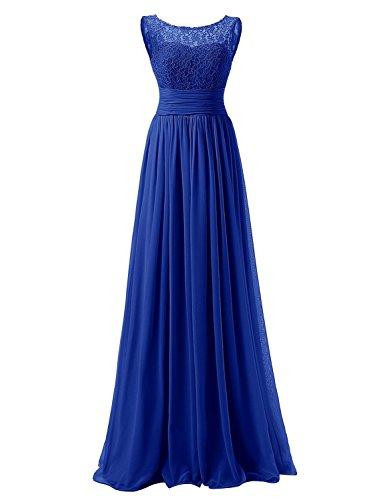 JAEDEN Ballkleid Bruatjungfernkleid Lang Chiffon A Linie Abendkleid Partykleid Damen Royal Blau...