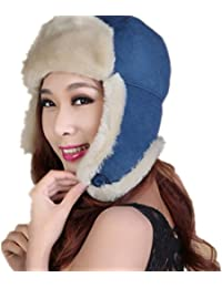 MHGAO Orecchio Caldo Cappellino Invernale Ispessimento Antivento Esterna  Unisex Cappello Ushanka cc6299f8c1db