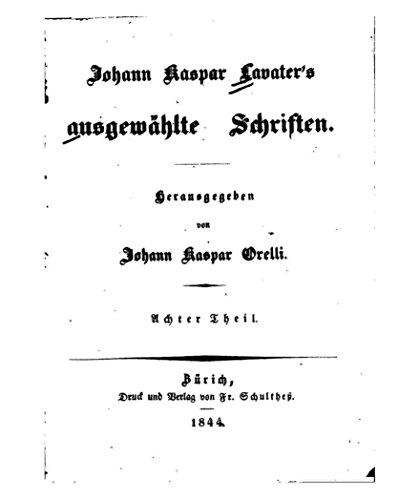 Johann Kaspar Lavater's ausgewählte Schriften