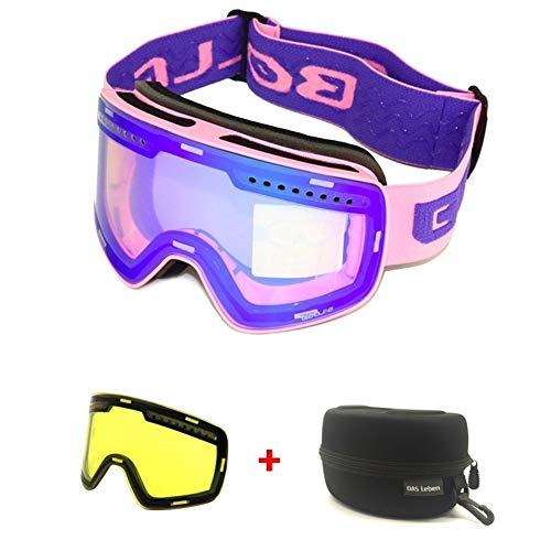 Gafas esquí Magnéticos capas dobles lente Gafas