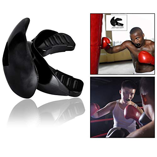 OFKPO Protector Bucal Deportivo para Boxeo, MMA, Rugby, Hockey, Artes Marciales, Karate ect, Negro