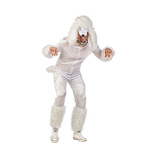 Kostüm Erwachsene Für Hunde Pudel - Limit Herren-Kostüm Pudel weiß XL