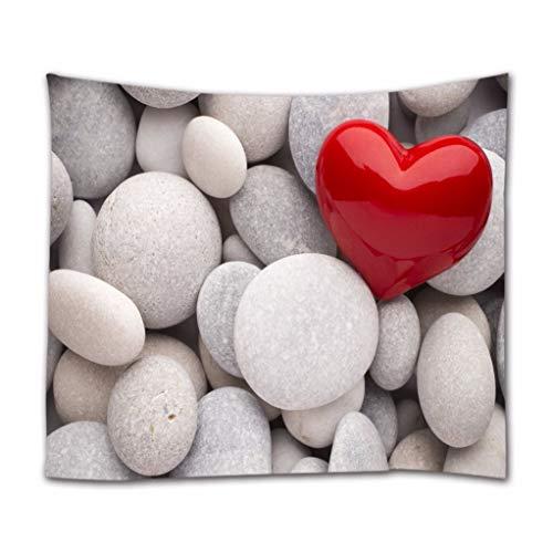 A.Monamour Tapices Corazón Rojo SPA Blanco