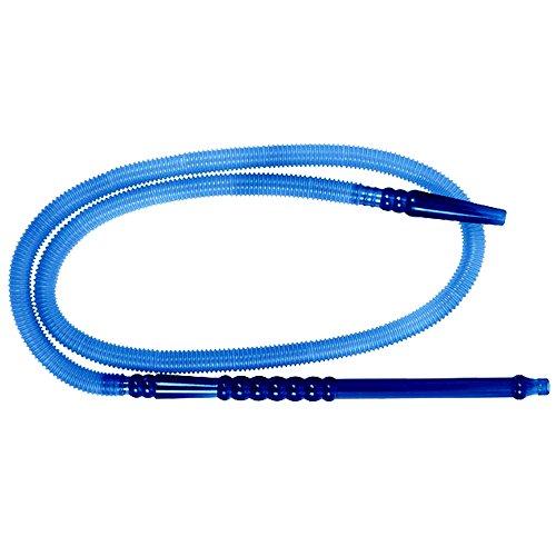 Shisha Schlauch / Schlauchset PVC Länge ca. 1,50m mit Mundstück Wasserpfeifenschlauch hygienisch, leicht zu reinigen, geeignet für jede Wasserpfeife (blau)