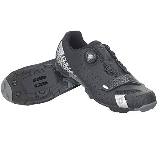 Scott Herren MTB-Radschuh Comp Boa Mountainbike Schuhe, Schwarz/Silber 5547, 48 EU