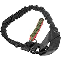 LRKZ Lanzamiento Rápido Táctico con Hebilla de Metal Cinturón de Seguridad Cuerda de Seguridad Eslingas de Pistola para Exteriores Airsoft Paintball Gear,Negro