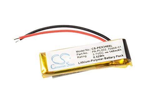 vhbw Li-Polymer Akku 140mAh (3.7V) für Headset Bluetooth Jabra BT2020, BT250, BT4010, Plantronics Explorer 320, 330, 340, 350, 360, 370, 390, 395. 340 Explorer