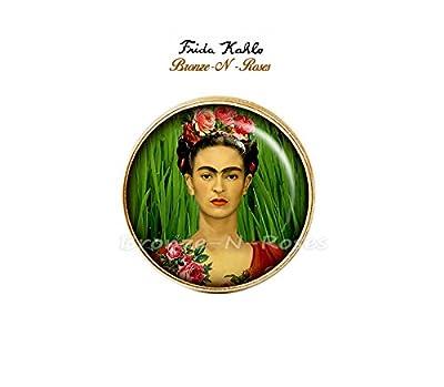 Bague .Frida.Kahlo. artiste peintre bronze-n-roses cadeau