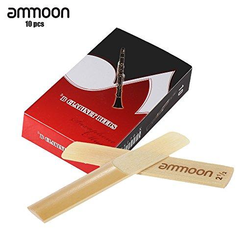 ammoon Canne di Bambù del Clarinetto Alta qualità Bb Forza 3.0 10pcs / Scatola (2.5)