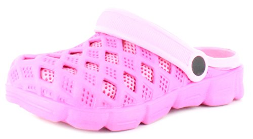 New Girls/Childrens Pink Beach Sandals Clogs - Pink - UK SIZE 11