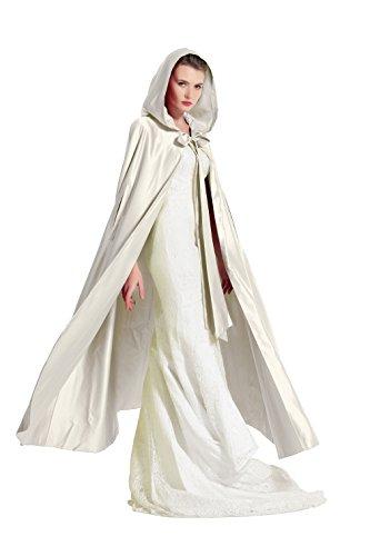 Umhang Damen Mit Kapuze Satin Für Hochzeit Braut Abendkleid Halloween Weihnachten Kostüme