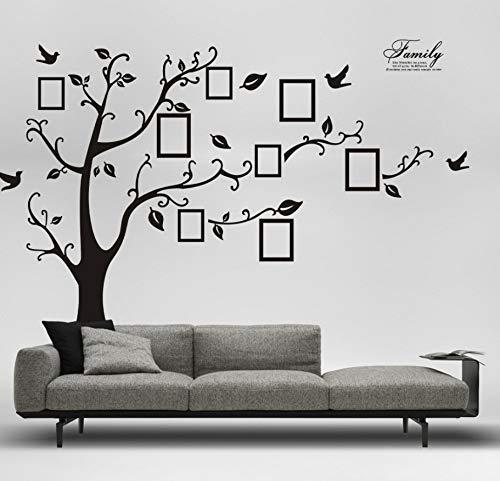 Schwarzer entfernbarer Erinnerungsbaum-Fotobaum-Wandaufkleber