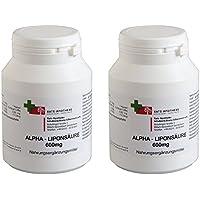 Alpha-Liponsäure 600mg 2x 60 Kap. biol. aktive DL- Formel, Made in Germany