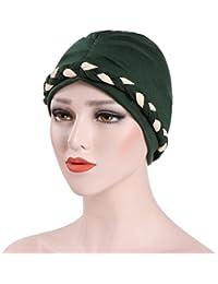 Dinglong 2018 Nouvelles Femmes Printemps Été Musulman Cap Turban Chapeau  Coton Double Couleur Fouet Spot Chapeau Beanie… 0ee11142841