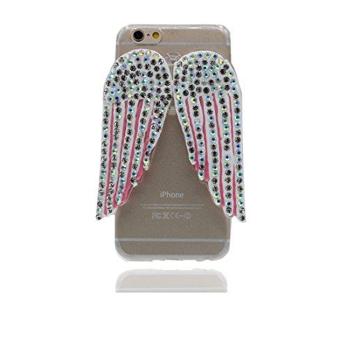 """Étui pour iPhone 7 (4.7""""), Ultra Slim (TPU Silicone Transparent Flexible) avec Petits Diamants Cristallins Retour coque pour iPhone 7 4.7"""" ailes , iPhone 7 4.7"""" case color 5"""