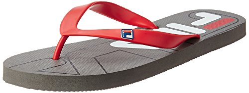 Fila Men's Double Fila Lite Grey and Blue Hawaii Thong Sandals - 6 UK/India (40 EU)  available at amazon for Rs.224