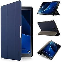 iHarbort® Samsung Galaxy Tab A 10.1 Funda - ultra delgado ligero Funda de piel de cuerpo entero para Samsung Galaxy Tab A 10.1 pulgada (2016 Version SM-T580N SM-T585N) con la función del sueño / despierta (Galaxy Tab A 10.1, azul oscuro)