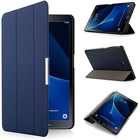 iHarbort® Samsung Galaxy Tab A 10.1 Funda - ultra delgado ligero Funda de piel de cuerpo entero para Samsung Galaxy Tab A 10.1 pulgada (2016 Version SM-T580N SM-T585N) con la función del sueño / despierta (Galaxy Tab A 10.1, azul