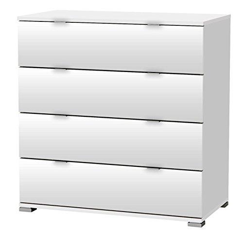 KOMMODE PERFECT 221 weiß 4 Schubladen Flurschrank Schrank Wäscheschrank Holz Neu