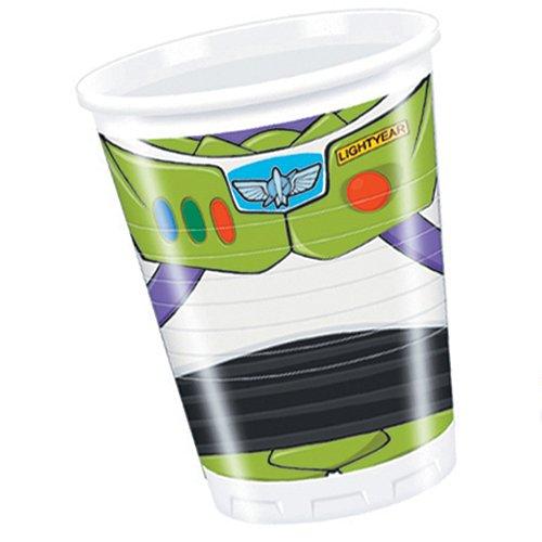 Amscan Toy Story Star POW Tasses en plastique Accessoire de fête, lot de 8