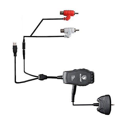 Sades Gaming Headset Audio Adapter Konverter Stecker für Spielen von PC/Mac/PS4(Playstation 4)/PS3(Playstation 3)/Xbox One/Xbox 360 (Ps3-sades Gaming-headset,)