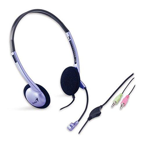 Genius HS-02B Cuffie Stereo Classic con Microfono per Mp3 Skype Msn, Colore Viola / Lilla