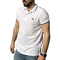 CONSENSO Polo Uomo T-Shirt Mezza Manica TG. M, L, XL, XXL, XXXL - Colori Assortiti (XL, Bianco)