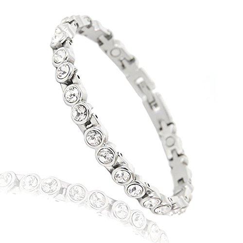 Boulevard Fashion Magnetarmband Energetix 4you 4-you 463 Moonlight klare Swarovski Crystals White Diamond 1A Qualität Magnetix XS bis XXL