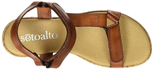 SOTOALTO - 1112086480, Sandali con cinturino Donna Marrone