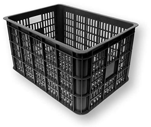 Basil Unisex- Erwachsene Crate L Fahrradkiste für den Vorderradgepäckträger, Black, 50 cm x 36 cm x 27 cm