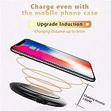 Zyx Cargador inalámbrico, Qi Pad de Carga inalámbrica para iPhone XS/XR / XS MAX...