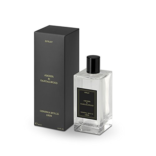 Amber & Sandalwood 100 ml 3.4 fl. oz. Cereria Molla 1899 Spray Home -
