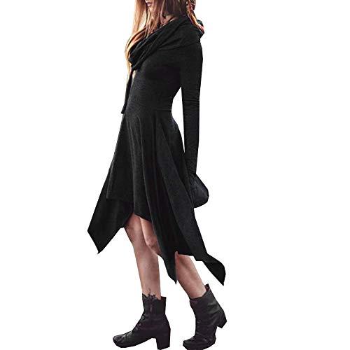 Dorame donna vestiti lunghi eleganti, vestito da giorno spacco v scollo manica corta vestitini da cerimonia sera partito taglie forti casuale plain camicia abiti vestiti nero ragazza