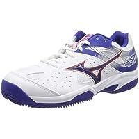 Mizuno Break Shot 2 Ac, Scarpe da Tennis Uomo, Bianco (White/Reflex Blue/Nasturtium 27), 44 EU